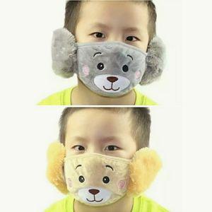 Set 2 kids unisex winter face mask earmuffs in one
